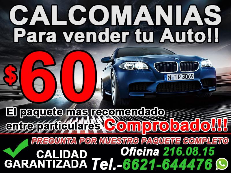 Calcas / Calmcomanias para vender tu carro
