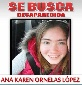 Se busca Ana Karen Ornelas