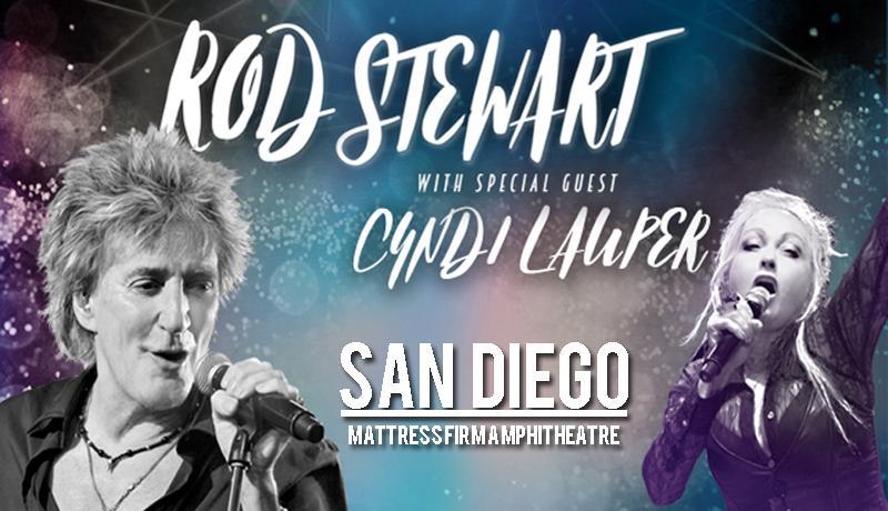 Rod Stewart y Cyndi Lauper