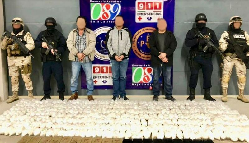 Incautan más de 200 kilogramos de metanfetamina en Baja California