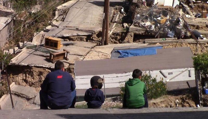 Resultado de imagen para EL DESASTRE EN LOMAS DEL RUBI EN TIJUANA