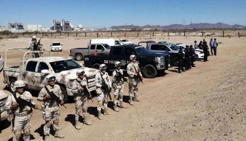 Despliegan operativo policial en Guaymas y Empalme