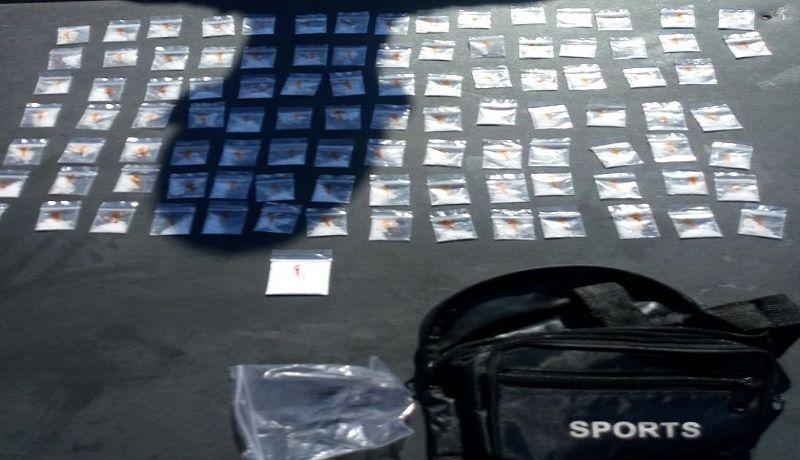 Lo detienen con más de 100 dosis de drogas en Guaymas