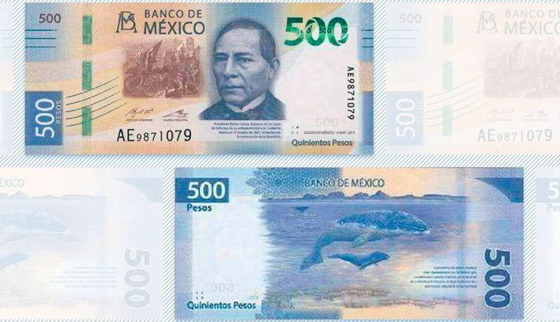 Resultado de imagen para nueva familia de billetes comprenderá 6 denominaciones: 50, 100, 200, 500 y 1,000, además del probable de 2 mil pesos.