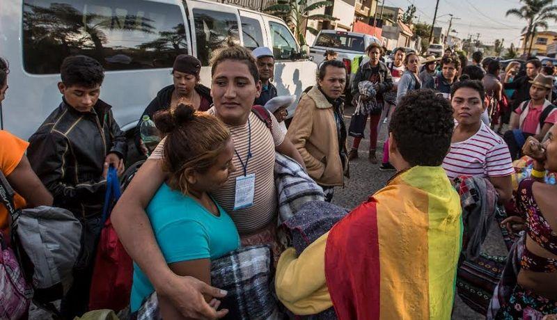 Resultado de imagen para caravana migrante tijuana