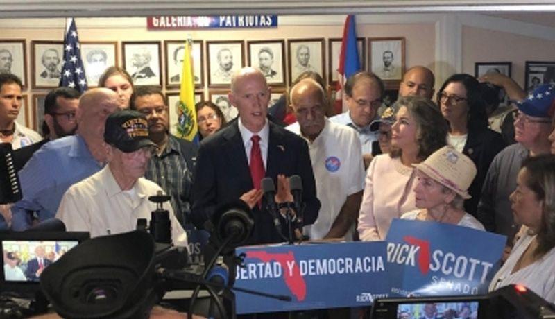 Rick Scott gana el Senado por Florida tras recuento manual