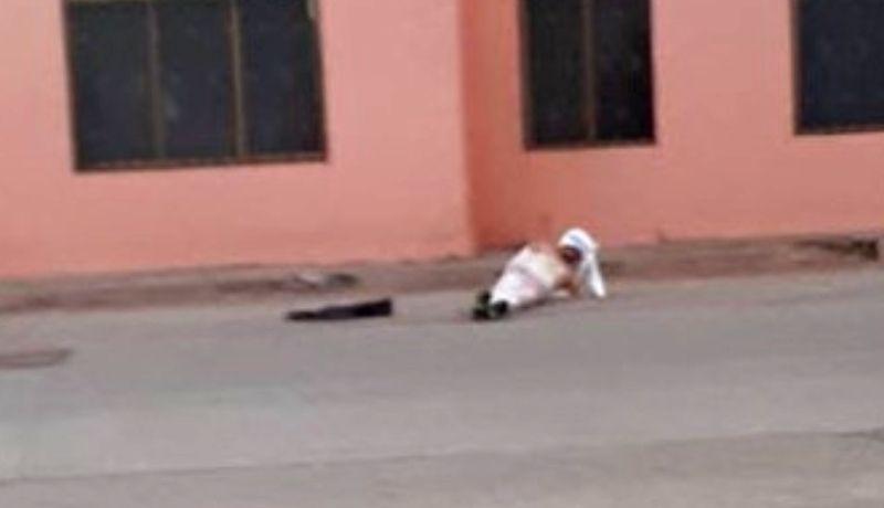 Autodefensas Guaymas' golpean y dejan atado a supuesto ladrón