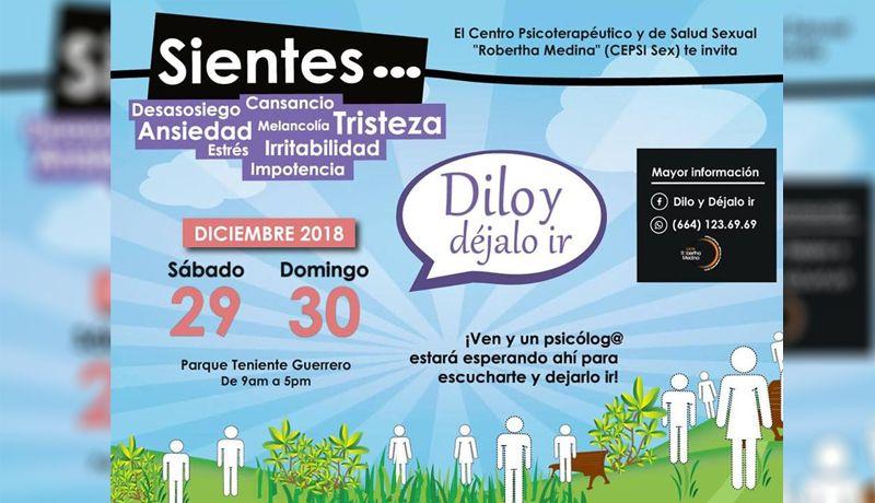 Dilo y Déjalo ir  este sábado 29 y domingo 30 7f304a5246ebd