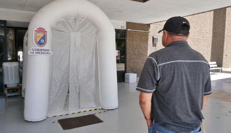 Instalarán túneles sanitizantes en 4 puntos de Mexicali