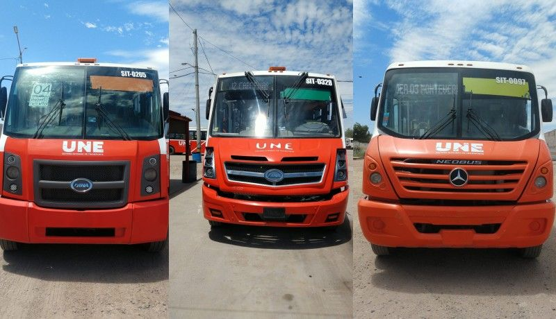 Colocan distintivo de colores en transporte urbano de Hermosillo