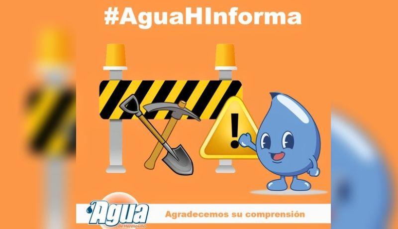 Aguah suspenderá servicio en colonias del Oriente de Hermosillo