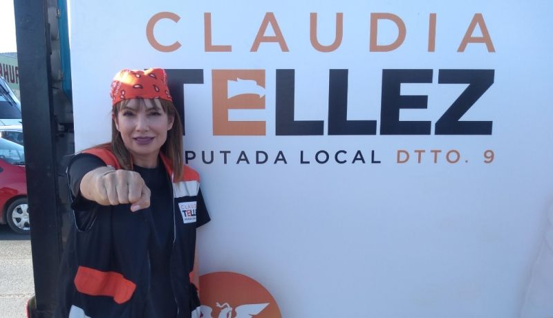 No soy política, pero sí soy luchadora social: Claudia Téllez