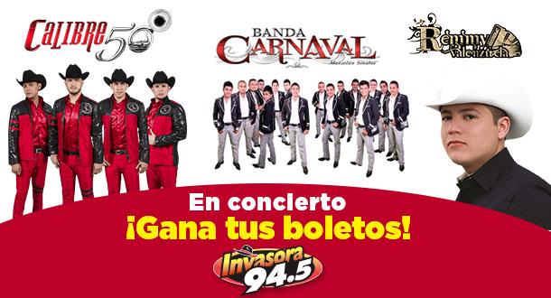 Calibre 50, Banda el Carnaval y Remmy Valenzuela