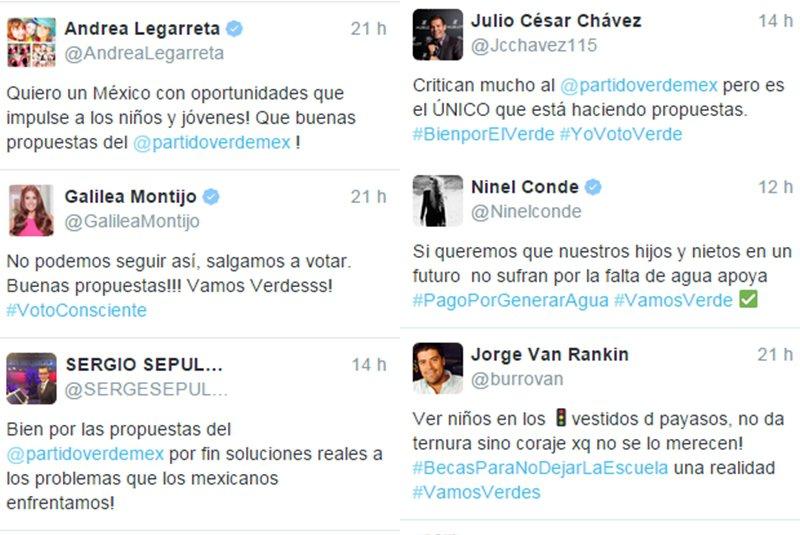 Suben multa a PVEM por tuits de famosos