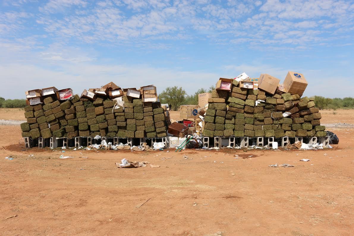Más de 800 kilos de droga fueron incinerados por la PGR