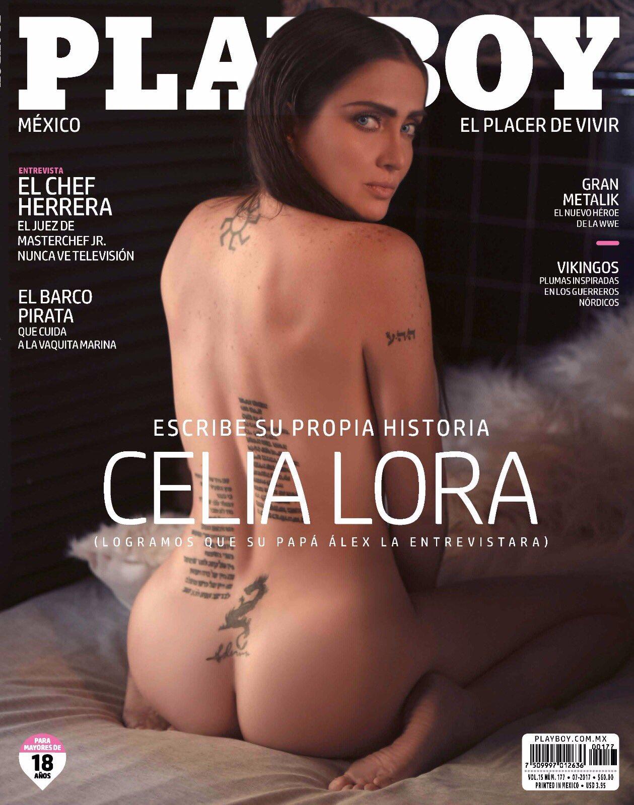 Celia Lora presume fotos desnuda que realizó para Playboy